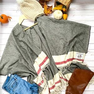 Roots Cabin shawl wrap and Gap jeans set